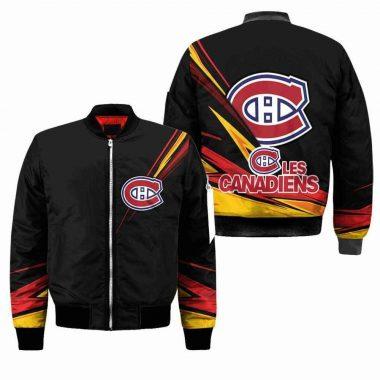 Montral Canadiens Nhl Black Bomber Jacket, Fleece Hoodie Size S-5XL