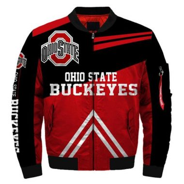 NCAA Bomber Jacket Men Ohio State Buckeyes Jacket Sale Bomber Jacket Size S-5XL