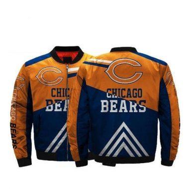 NFL Football Men Bomber Jacket Chicago Bears Jacket For Cheap Bomber Jacket Size S-5XL