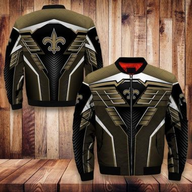New Orleans Saints Nfl Fan Bomber 3d Printed Bomber 3d 3d Graphic Printed Tshirt Hoodie Up To 5xl Bomber Jacket Size S-5XL