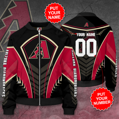 Personalized ARIZONA DIAMONDBACKS MLB baseball Bomber Jacket