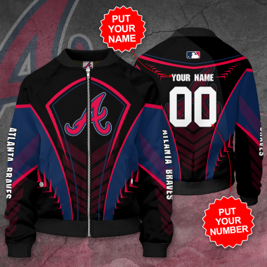 Personalized ATLANTA BRAVES MLB baseball Bomber Jacket