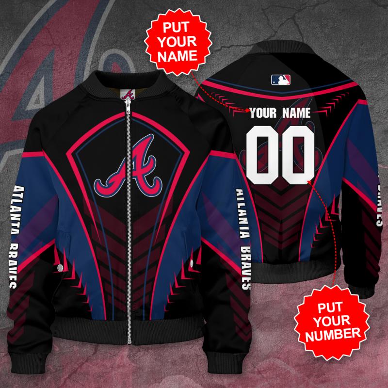 Personalized ATLANTA BRAVES MLB baseball Bomber Jacket