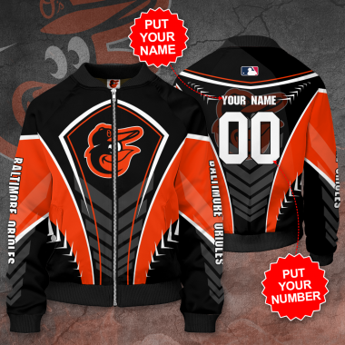 Personalized BALTIMORE ORIOLES MLB Baseball Bomber Jacket