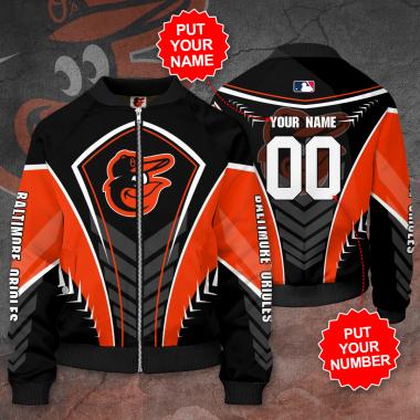 Personalized BALTIMORE ORIOLES MLB Baseball Bomber Jacket