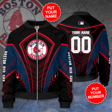 Personalized BOSTON RED SOX MLB Baseball Bomber Jacket