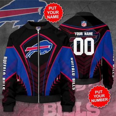 Personalized BUFFALO BILLS NFL Football Bomber Jacket