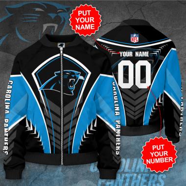 Personalized CAROLINA PANTHERS NFL Football Bomber Jacket