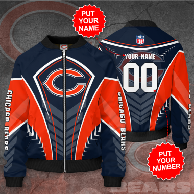 Personalized CHICAGO BEARS NFL Football Bomber Jacket