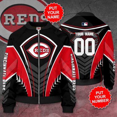 Personalized CINCINNATI REDS MLB baseball Bomber Jacket