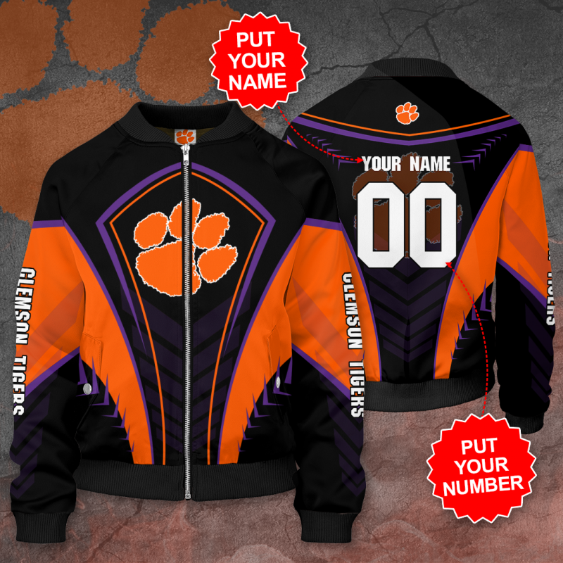 Personalized CLEMSON TIGERS Football Bomber Jacket