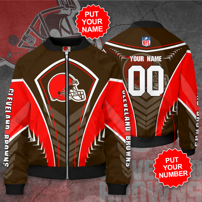 Personalized CLEVELAND BROWNS NFL Football Bomber Jacket