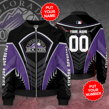 Personalized COLORADO ROCKIES MLB Baseball Bomber Jacket
