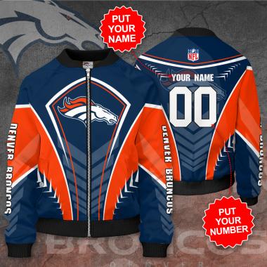 Personalized DENVER BRONCOS NFL Football Bomber Jacket