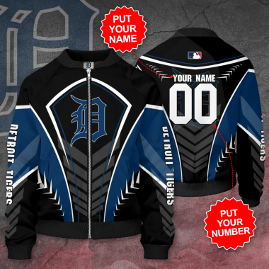 Personalized DETROIT TIGERS MLB Baseball Bomber Jacket