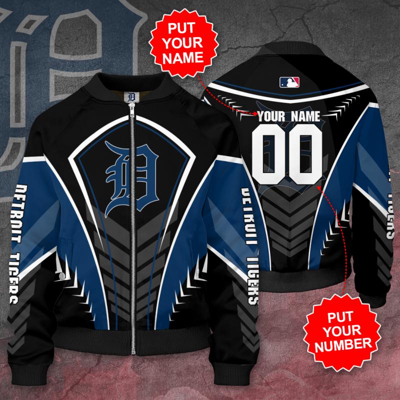 Personalized DETROIT TIGERS MLB Baseball Bomber Jacket