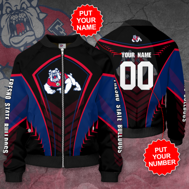 Personalized FRESNO STATE BULLDOGS Football Bomber Jacket