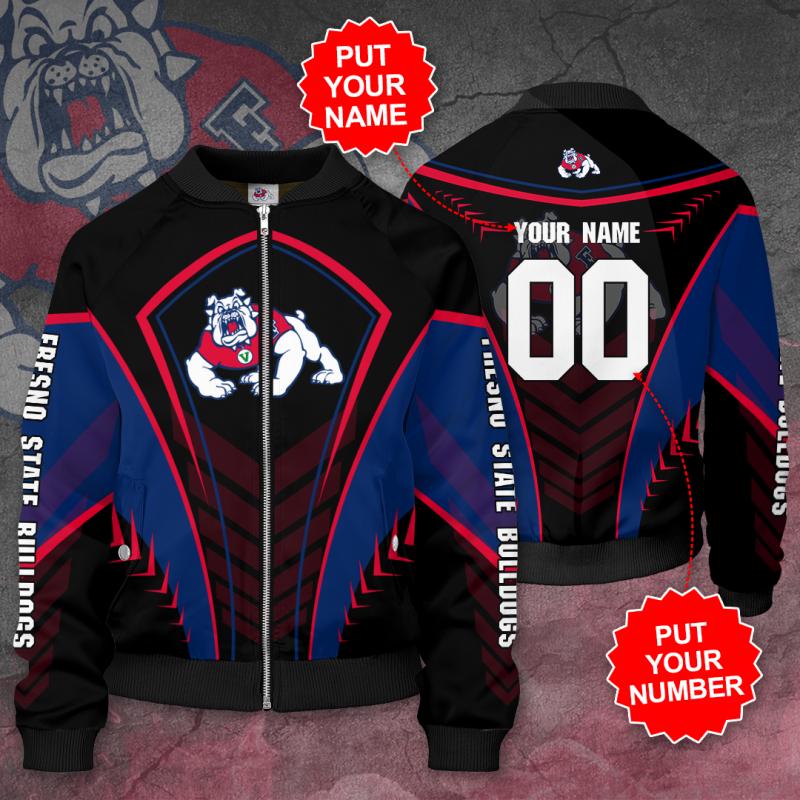 Personalized FRESNO STATE BULLDOGS Football Bomber Jacket