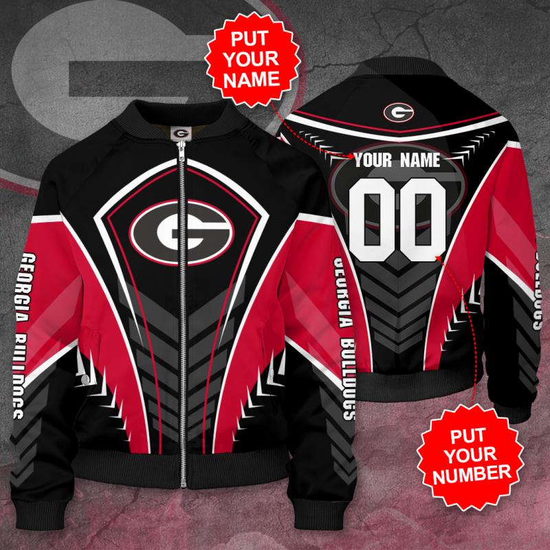Personalized GEORGIA BULLDOGS Football Bomber Jacket