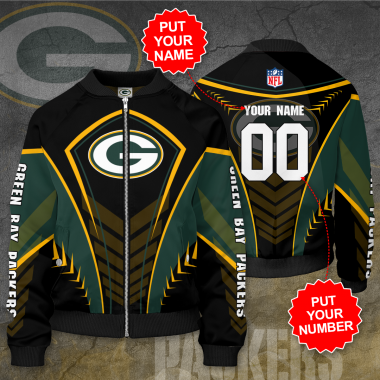 Personalized GREEN BAY PACKERS NFL Football Bomber Jacket