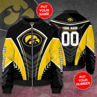 Personalized IOWA HAWKEYES Football Bomber Jacket