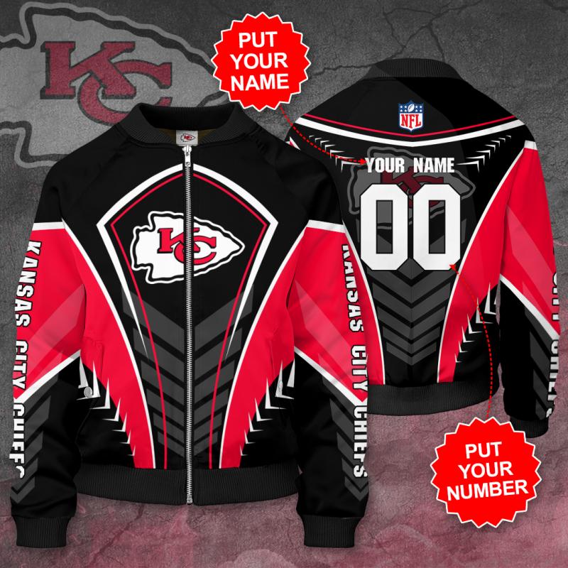 Personalized KANSAS CITY CHIEFS Football Bomber Jacket