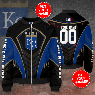 Personalized KANSAS CITY ROYALS MLB Baseball Bomber Jacket
