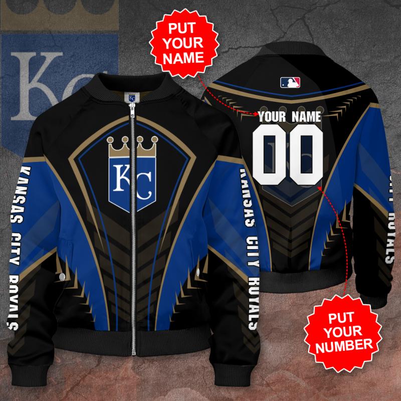 Personalized KANSAS CITY ROYALS MLB Baseball Bomber Jacket