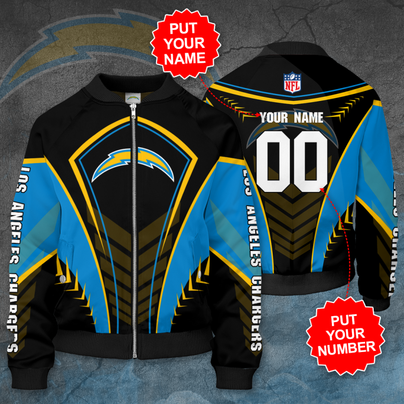 Personalized LOS ANGELES CHARGERS NFL Football Bomber Jacket