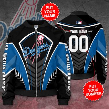 Personalized LOS ANGELES DODGERS MLB Baseball Bomber Jacket