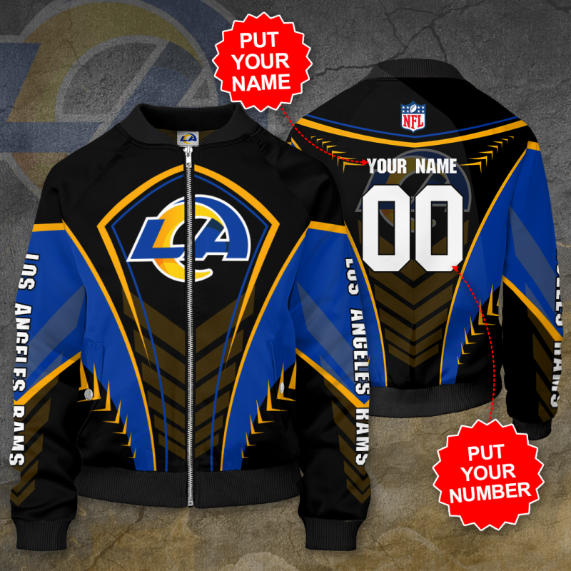 Personalized LOS ANGELES RAMS NFL Football Bomber Jacket