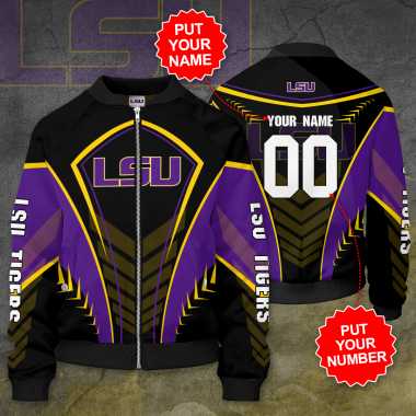 Personalized LSU TIGERS Football Bomber Jacket