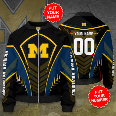 Personalized MICHIGAN WOLVERINES Football Bomber Jacket
