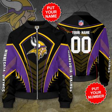 Personalized MINNESOTA VIKINGS NFL Football Bomber Jacket