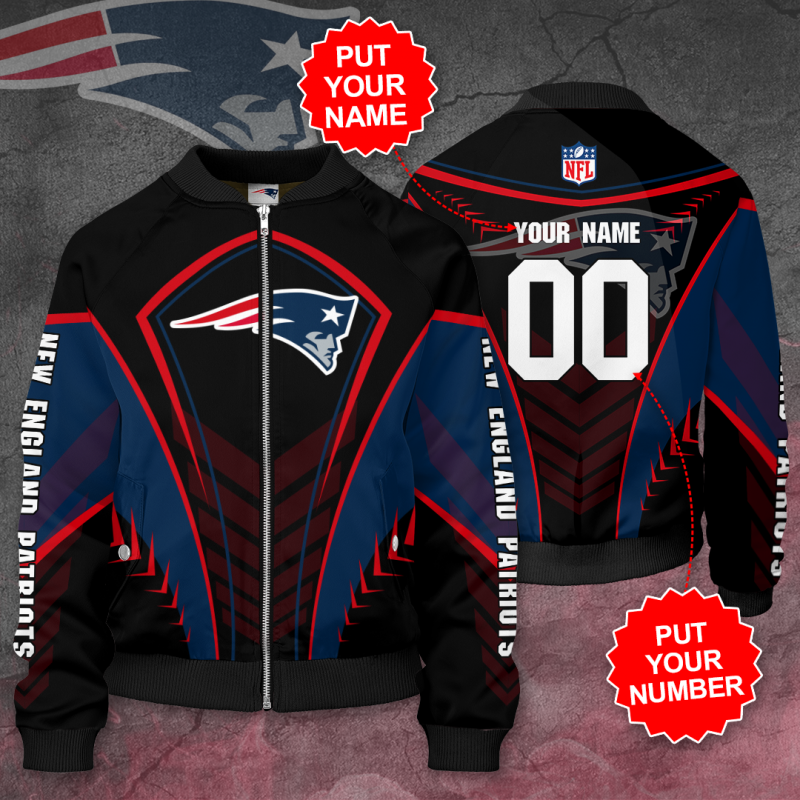 Personalized NEW ENGLAND PATRIOTS NFL Football Bomber Jacket