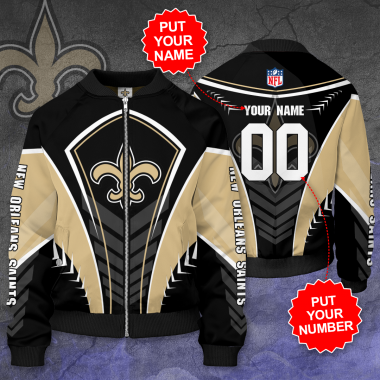 Personalized NEW ORLEANS SAINTS NFL Football Bomber Jacket