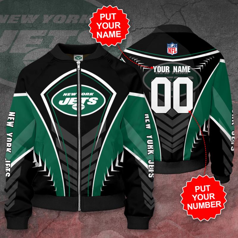 Personalized NEW YORK JETS NFL Football Bomber Jacket