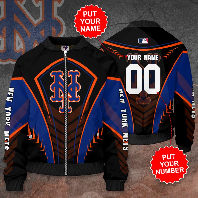 Personalized NEW YORK METS MLB Baseball Bomber Jacket