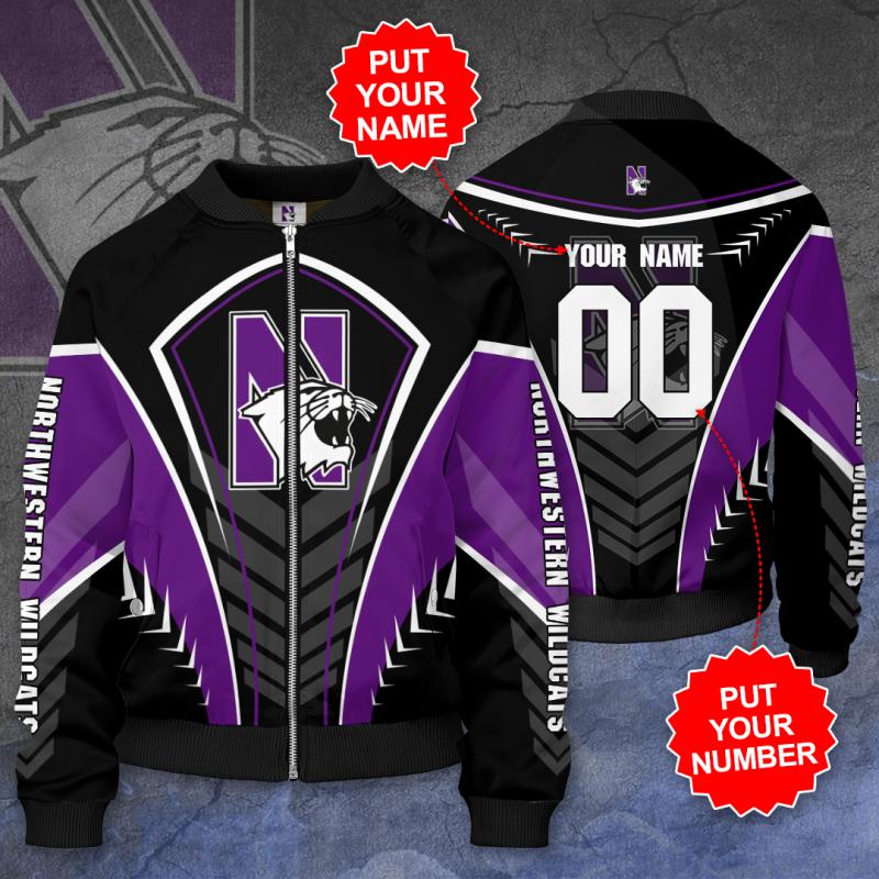 Personalized NORTHWESTERN WILDCATS Football Bomber Jacket