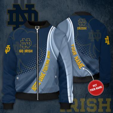 Personalized NOTRE DAME FIGHTING IRISH Bomber Jacket