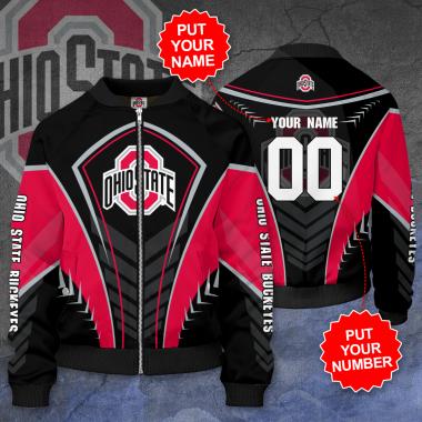 Personalized OHIO STATE BUCKEYES Football Bomber Jacket