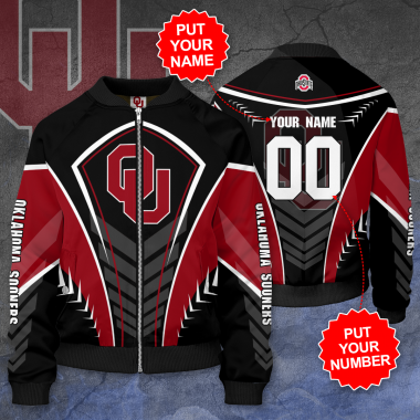 Personalized OKLAHOMA SOONERS Football Bomber Jacket