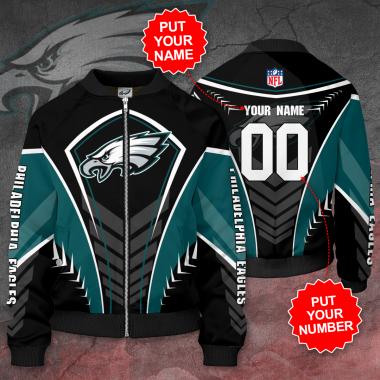 Personalized PHILADELPHIA EAGLES NFL Football Bomber Jacket