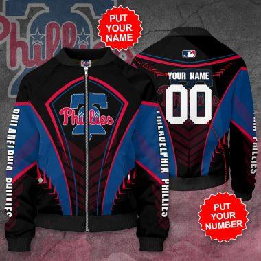 Personalized PHILADELPHIA PHILLIES MLB Baseball Bomber Jacket