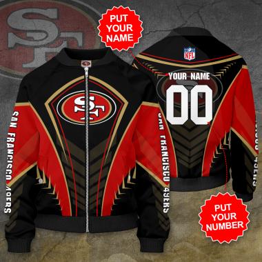 Personalized SAN FRANCISCO 49ERS NFL Football Bomber Jacket