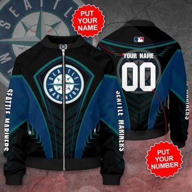 Personalized SEATTLE MARINERS MLB Baseball Bomber Jacket