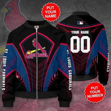 Personalized ST. LOUIS CARDINALS MLB Baseball Bomber Jacket