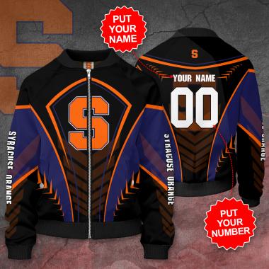 Personalized SYRACUSE ORANGE Football Bomber Jacket