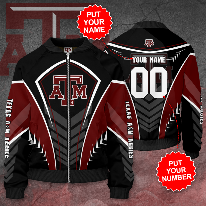 Personalized TEXAS A&M AGGIES Football Bomber Jacket