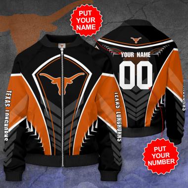 Personalized TEXAS LONGHORNS Football Bomber Jacket